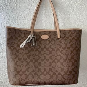 Coach Metro Signature Tote Bag Khaki/ Tan